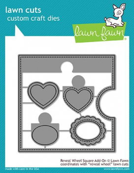 Lawn Fawn - Stanzschablonenset Reveal Wheel Square Add-On