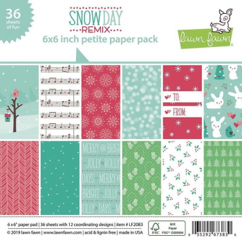 Lawn Fawn Papierblock Snow Day Remix 6x6""