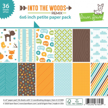 Lawn Fawn Papierblock Into the Woods Petite Paper Pack 6x6""