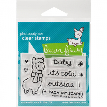 Lawn Fawn - Clear Stamp Winter Alpaca