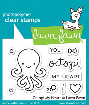 Lawn Fawn - Clearstempel und Stanzen Combo Octopi My Heart