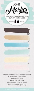 Studio Light Watercolor Marker dual tip water-based x6 Sommer