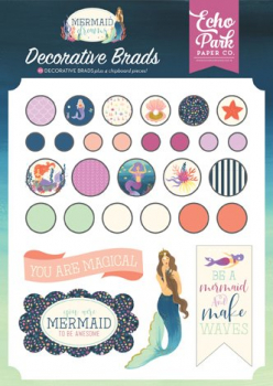 Echo Park Paper - Decorative Brads Mermaid Dreams