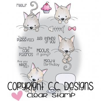 C.C. Designs - Clear Stamps Meoples Meowy