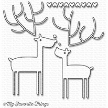 My Favorite Things Stanzschablonenset Deer Love Die-namics Dies