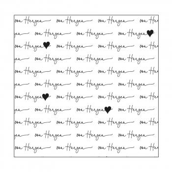 Mundart Stempel - Prägeschablone Embossing Folder Von Herzen