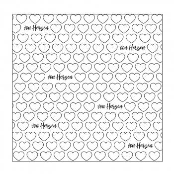 Mundart Stempel - Prägeschablone Text mit Herzen Embossing Folder
