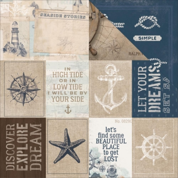 Kaisercraft - High Tide Scrapbooking Paper Set Sail 12x12""