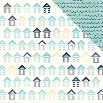 Kaisercraft - Scrapbooking Papier Summer Splash Beach Huts 12x12""