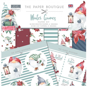 The Paper Boutique Papierkit Winter Gnomes 20.3x20.3cm