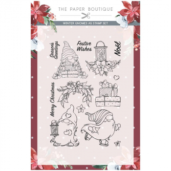 The Paper Boutique Clearstempelset Winterzwerge Winter Gnomes Stamps
