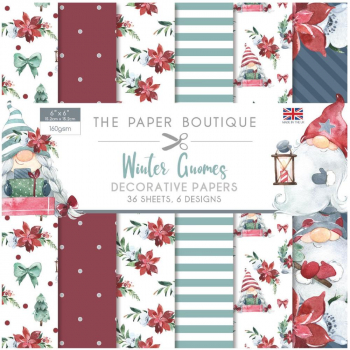 The Paper Boutique Papierblock Winter Gnomes 6x6""