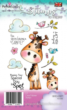 Polkadoodles - Clearstempelset Having A Giraffe Clear Stamps