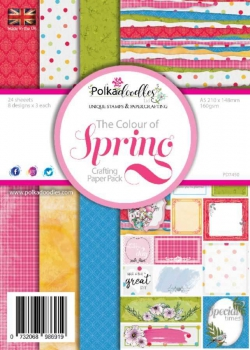 Polkadoodles - Papierblock A5 The colour of Spring Paperpack