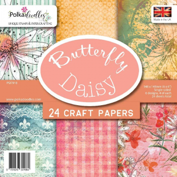 Polkadoodles Papierblock Butterfly Daisy Paper Pack 6x6""