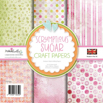 Polkadoodles Papierblock Scrumptious Sugar Craft Papers 6x6""