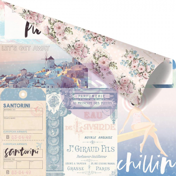 Prima Marketing - Scrapbookingpapier Santorini Enjoying The Sun 12x12""
