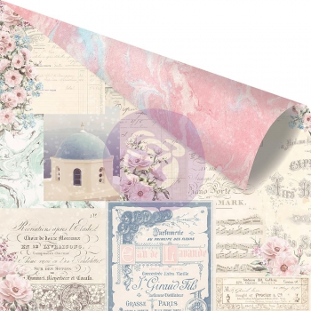 Prima Marketing - Scrapbookingpapier foliert Santorini Mix and Match Foiled 12x12""