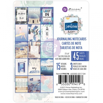 Prima Marketing - Notizkarten Santorini Journaling Note Cards 3x4""
