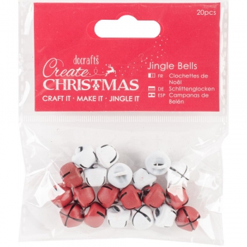 Docrafts - Papermania Jingle Bells Red & White 20 Stück