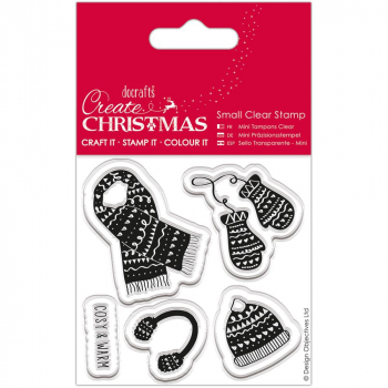 Papermania - Create Christmas Small Clear Stamps Warm & Cozy