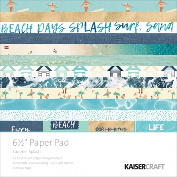"Kaisercraft - Scrapbooking Papierblock Summer Splash 6.5x6.5"" 40 Blatt"