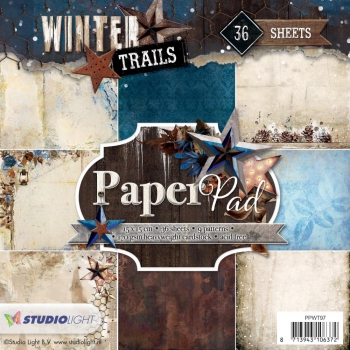Studio Light - Papierblock Winter Trails Nr. 97 Paper Pad 6x6""