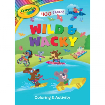 Crayola Ausmalbuch Wild & Wacky Giant Coloring Book 400 Pages