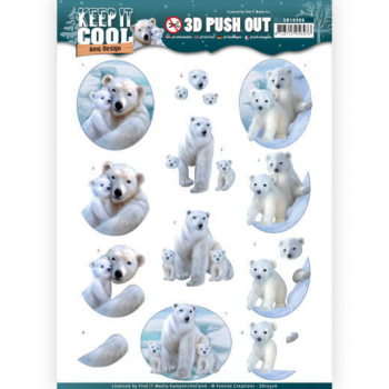 Bogen 3D Pushout Amy Design Keep it Cool Polar Bears