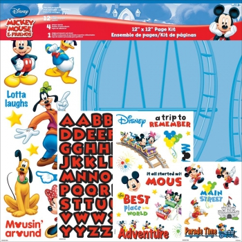 Disney Scrapbooking Page Kit Mickey Mouse 12x12""