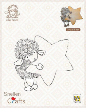Nellie's Choice Clearstempel Lammy with Star 7.5x7cm