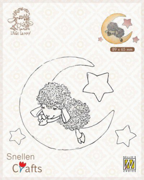 Nellie's Choice Clearstempel Lammy in Dreamland 9x7cm