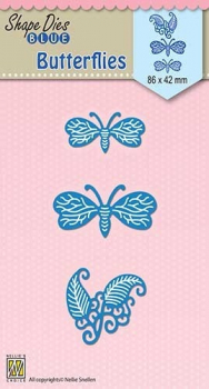 Nellie's Choice Stanzschablonenset Blue Butterflies