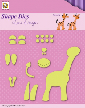 Nellie's Choice - Stanzschablonen Set Lene Design Baby build-up giraffe Dies