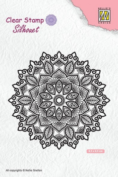 Nellie's Choice Clearstempel Mandala-4 8.5x8.5cm