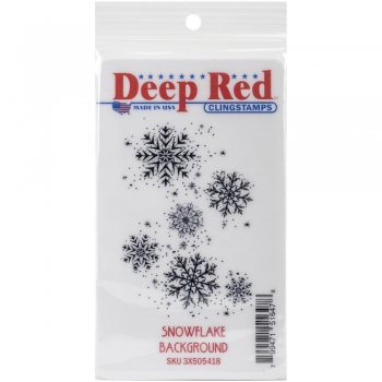Deep Red Stamps - Cling Stamp Snowflake Background 2x3""