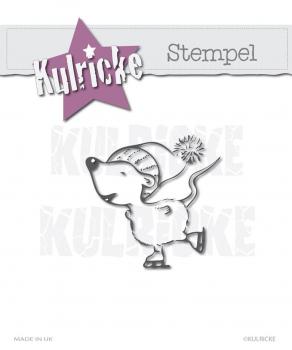 Kulricke - Clearstempel Maus mit Schlittschuhe