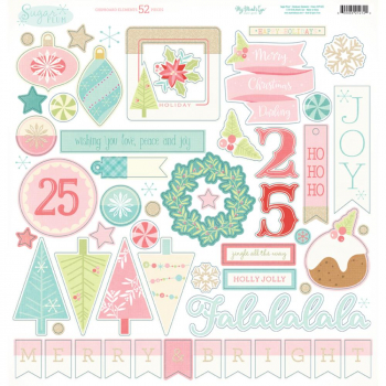 My Mind's Eye - Sugar Plum Chipboard Elements