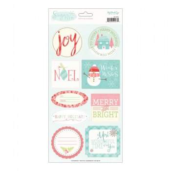 My Mind's Eye - Sugar Plum Gift Tag Stickers 9 Stück