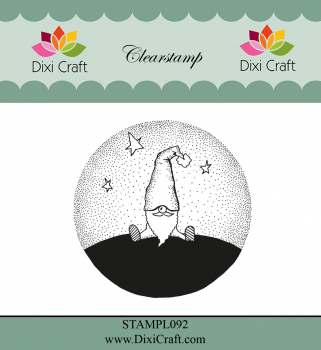 Dixi Craft - Clearstempel Wichtel Gnome in Landscape Clearstamp