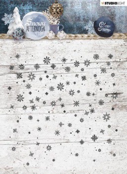 Studio Light Clearstempel Hintergrund Snowy Afternoon Background Stamp Nr. 401