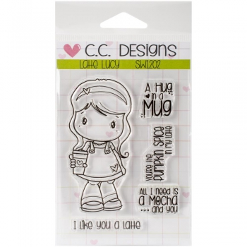 *NEU C.C. Designs - Swiss Pixie Latte Lucy Clear Stamps Set