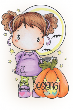 C.C. Designs - Clingstempel Oct. 31 Nora Cling Stamp
