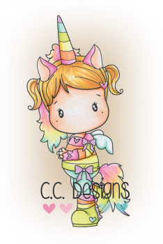 C.C. Designs - Clingstempel Unicorn Lucy Cling Stamp