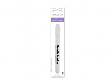 Multicraft Imports - Metallic Permanent Marker Extra Fine Tip White 0.7mm