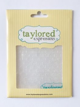 Taylored Expressions - Prägeschablone Brick Embossing Folder 4.5x5.75""