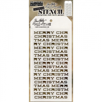 Tim Holtz - Layering Stencil Merry Christmas 4.125x8.5""