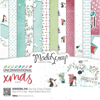 Elizabeth Craft Designs - ModaScrap Unconventional Xmas Paper Pack 6x6""