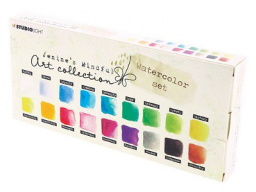 Studio Light Wasserfarbenset Watercolor Set Jenine's Mindful 2.0 Nr. 01