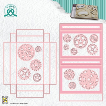 Nellies Choice Stanzschablonenset Wrapping Giftcard Box